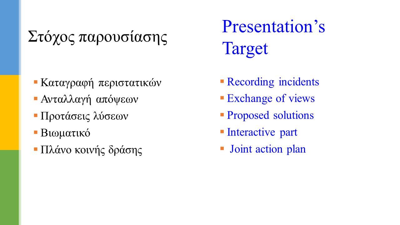 Presentation's Target