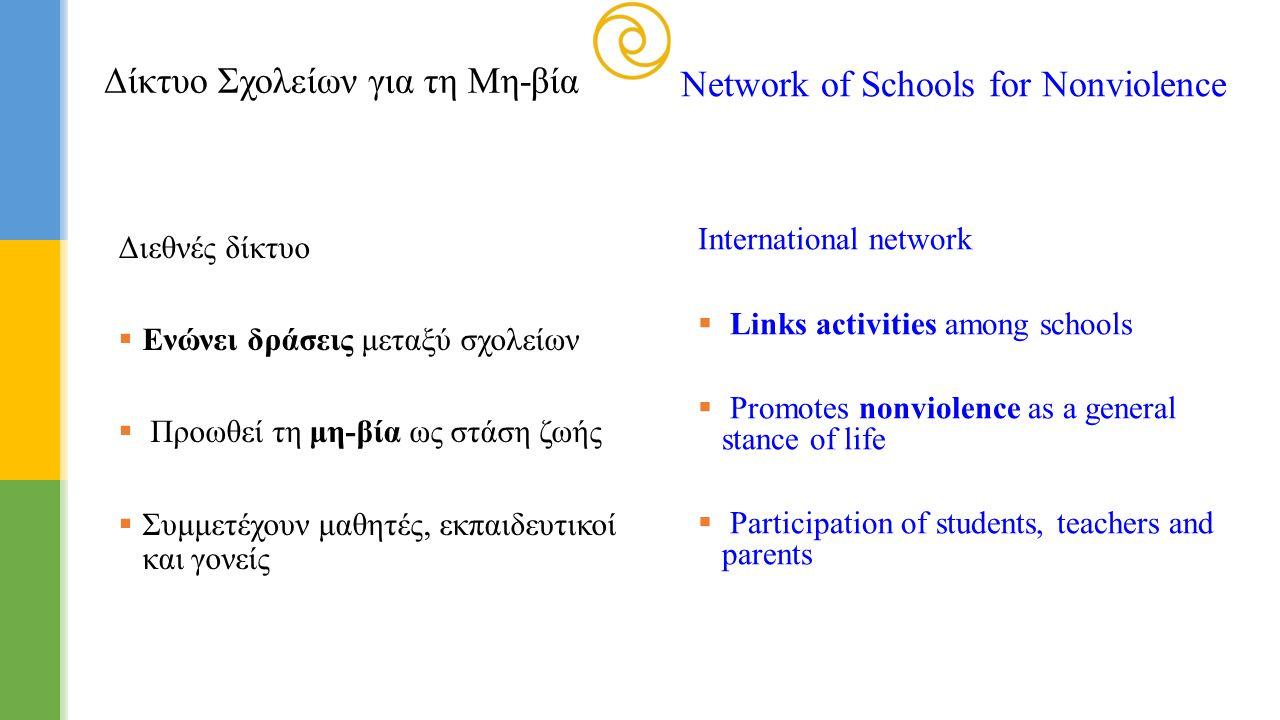 Δίκτυο Σχολείων για τη Μη-βία Network of Schools for Nonviolence