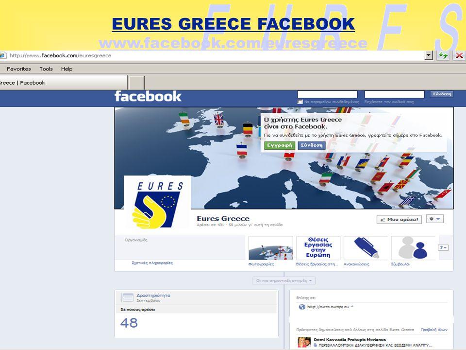 EURES GREECE FACEBOOK www.facebook.com/euresgreece