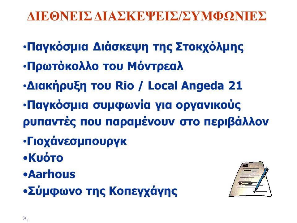 ΔΙΕΘΝΕΙΣ ΔΙΑΣΚΕΨΕΙΣ/ΣΥΜΦΩΝΙΕΣ