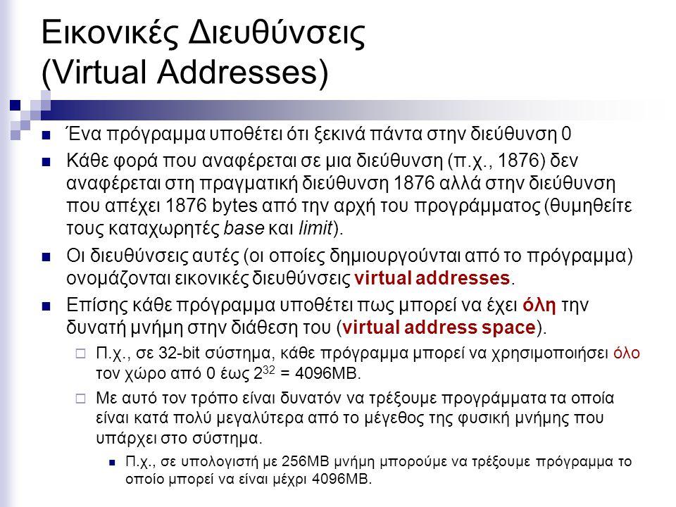Εικονικές Διευθύνσεις (Virtual Addresses)