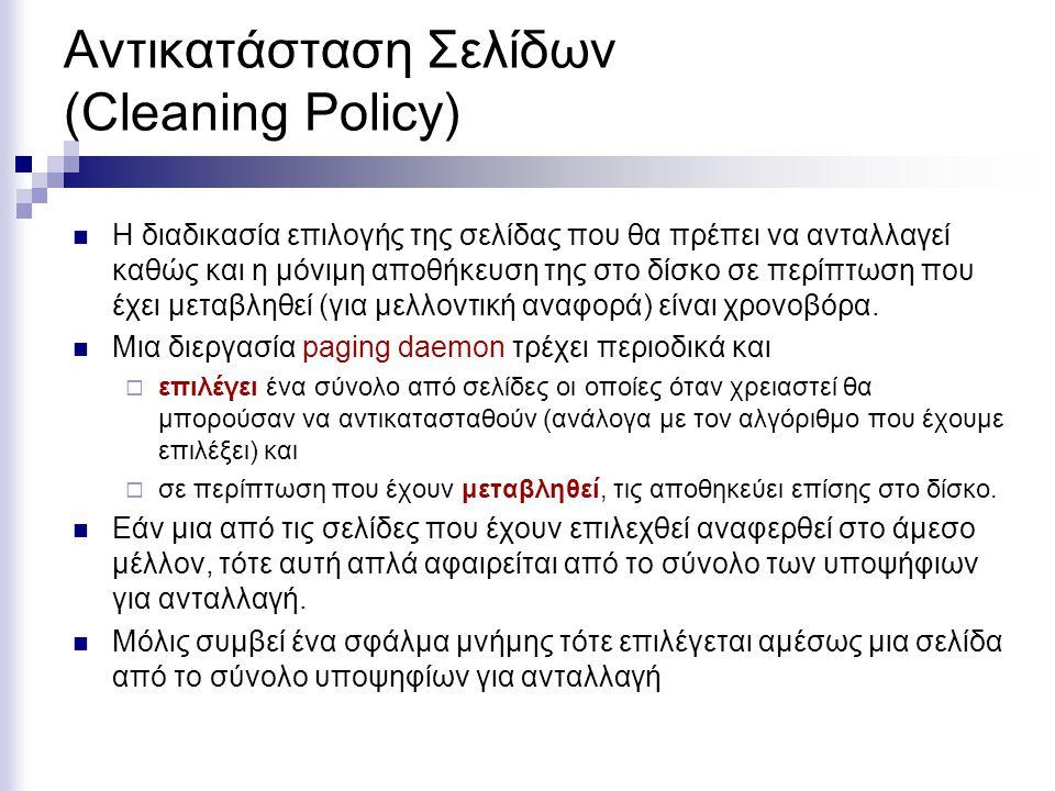 Αντικατάσταση Σελίδων (Cleaning Policy)