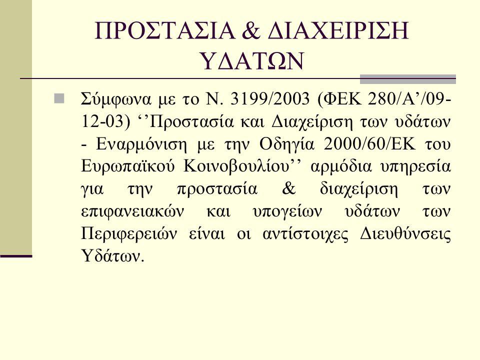 ΠΡΟΣΤΑΣΙΑ & ΔΙΑΧΕΙΡΙΣΗ ΥΔΑΤΩΝ