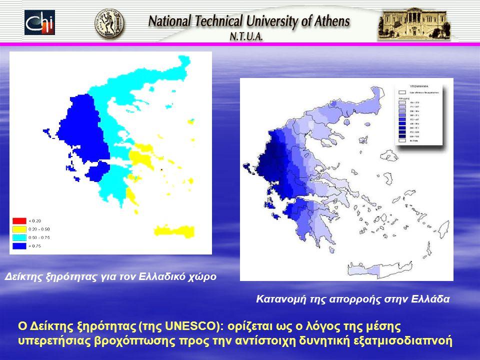Ο Δείκτης ξηρότητας (της UNESCO): ορίζεται ως ο λόγος της μέσης