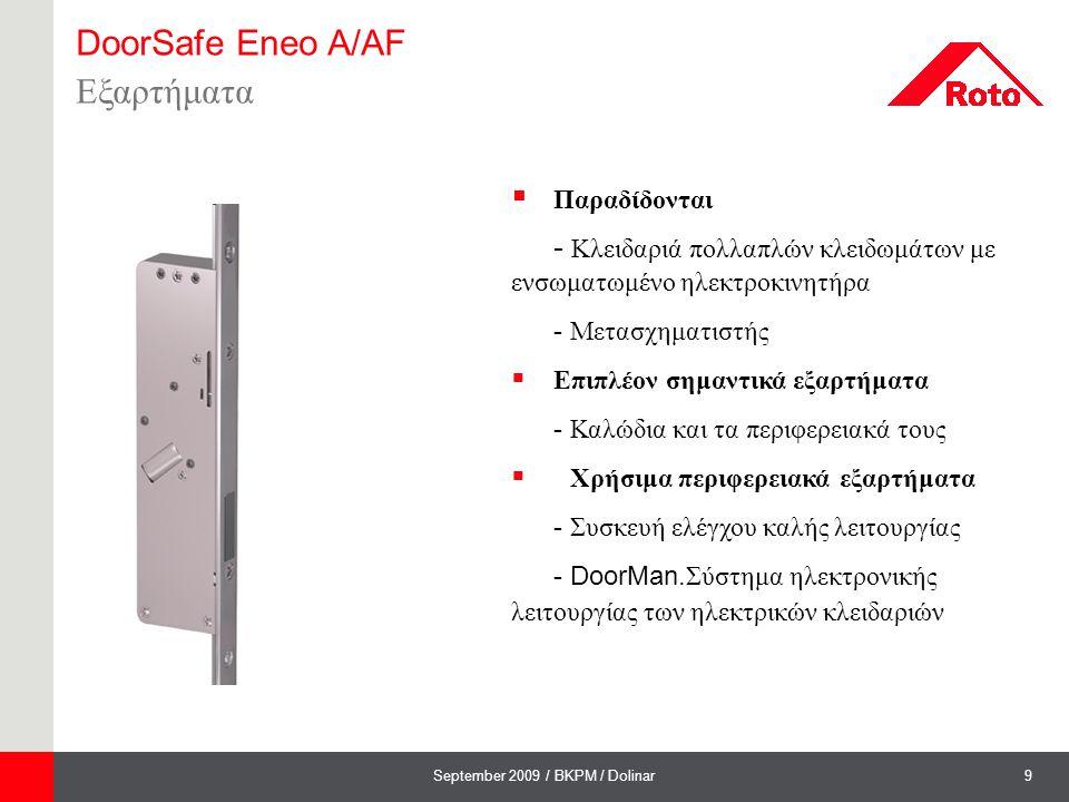 DoorSafe Eneo A/AF Εξαρτήματα Παραδίδονται