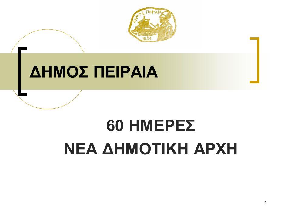 60 ΗΜΕΡΕΣ ΝΕΑ ΔΗΜΟΤΙΚΗ ΑΡΧΗ