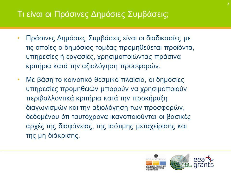 Τι είναι οι Πράσινες Δημόσιες Συμβάσεις;