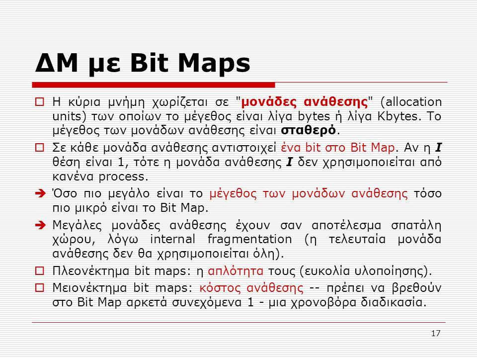 ΔΜ με Bit Maps