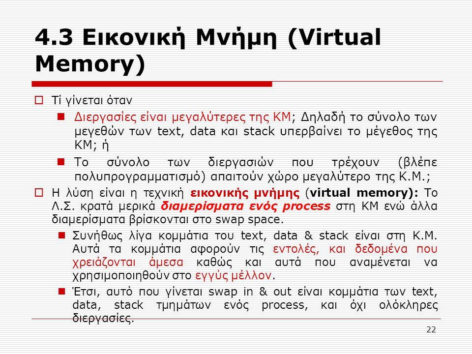 4.3 Εικονική Μνήμη (Virtual Memory)