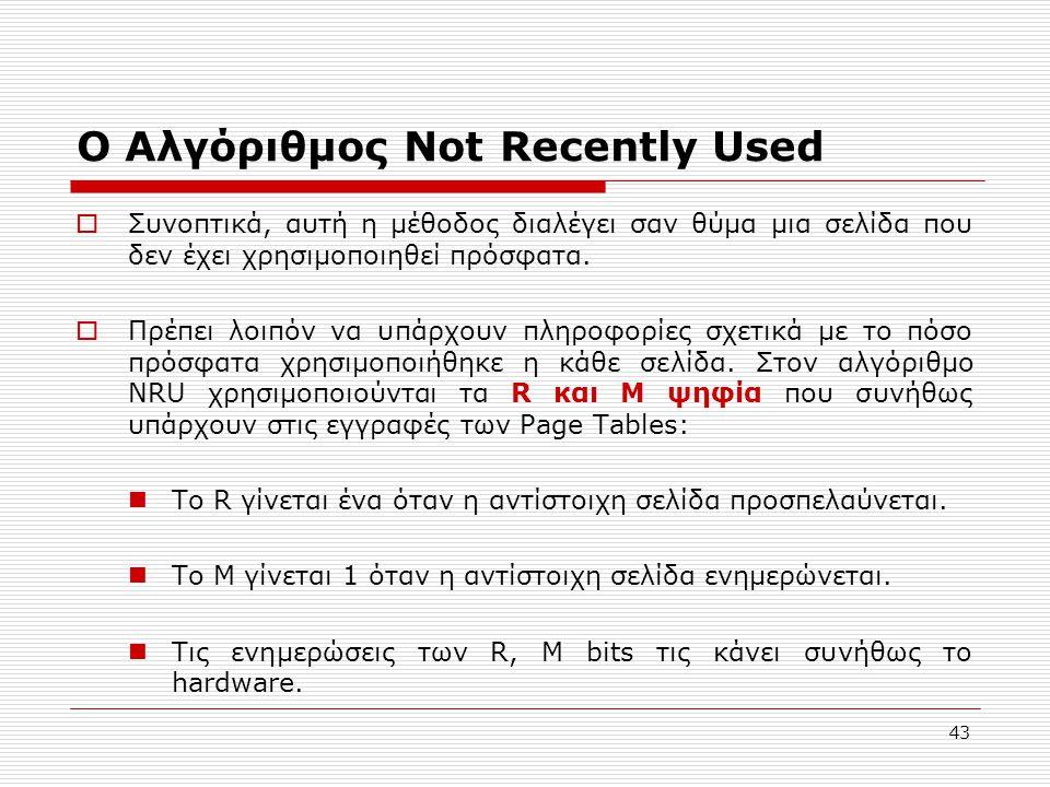 Ο Αλγόριθμος Not Recently Used