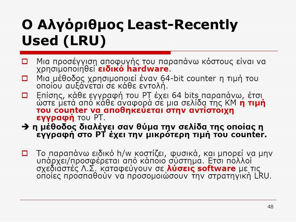 Ο Αλγόριθμος Least-Recently Used (LRU)