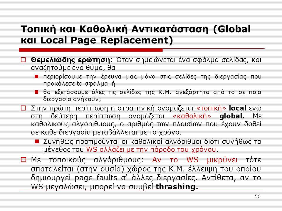 Τοπική και Καθολική Αντικατάσταση (Global και Local Page Replacement)