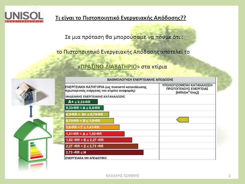 Τι είναι το Πιστοποιητικό Ενεργειακής Απόδοσης