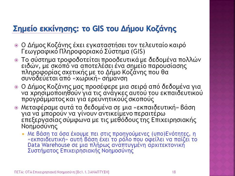 Σημείο εκκίνησης: το GIS του Δήμου Κοζάνης