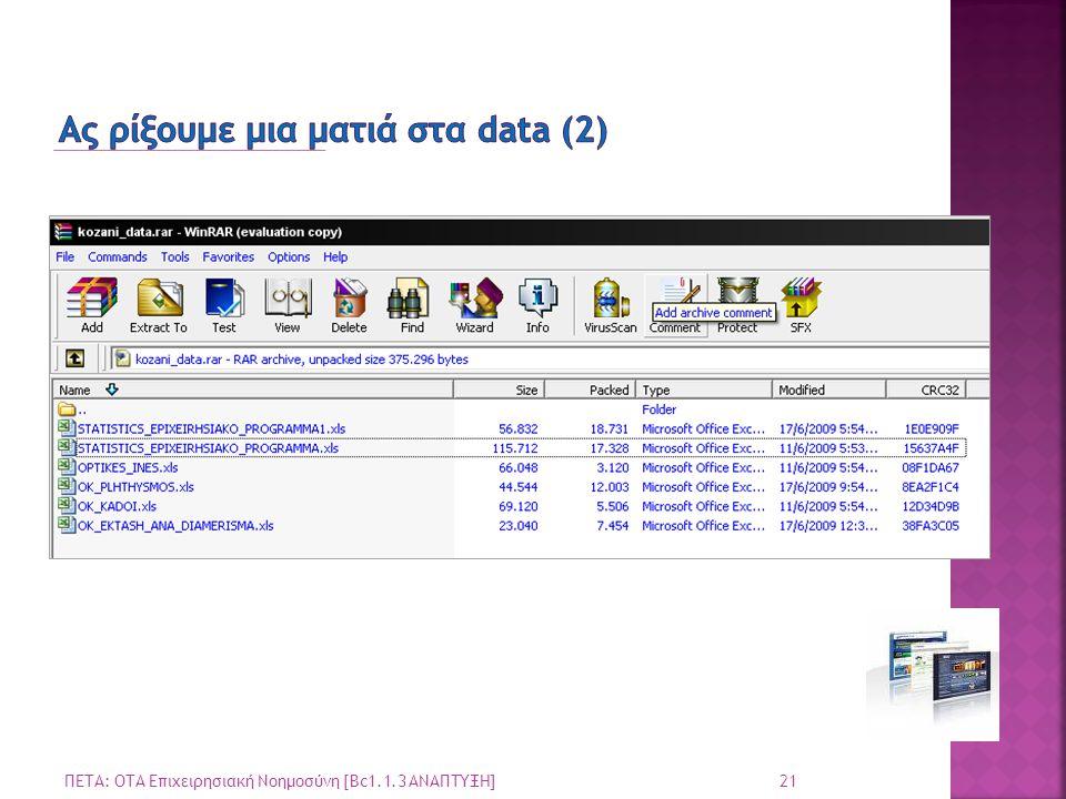 Ας ρίξουμε μια ματιά στα data (2)