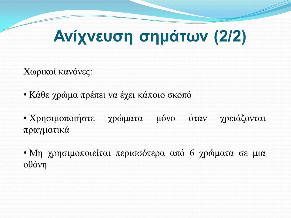 Ανίχνευση σημάτων (2/2) Χωρικοί κανόνες: