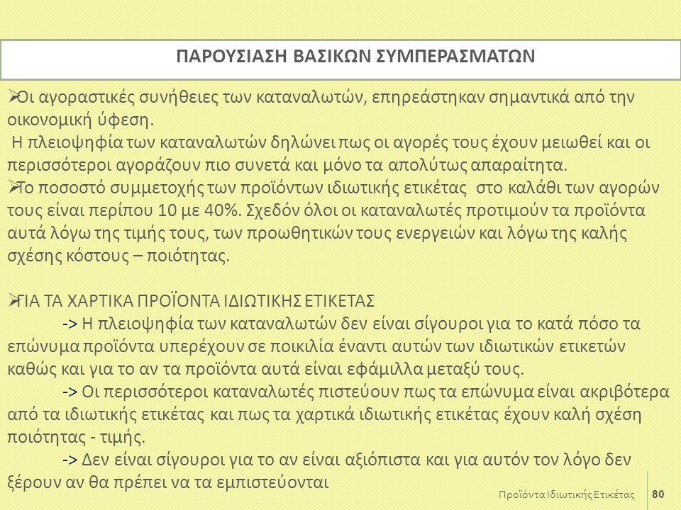 ΠΑΡΟΥΣΙΑΣΗ ΒΑΣΙΚΩΝ ΣΥΜΠΕΡΑΣΜΑΤΩΝ