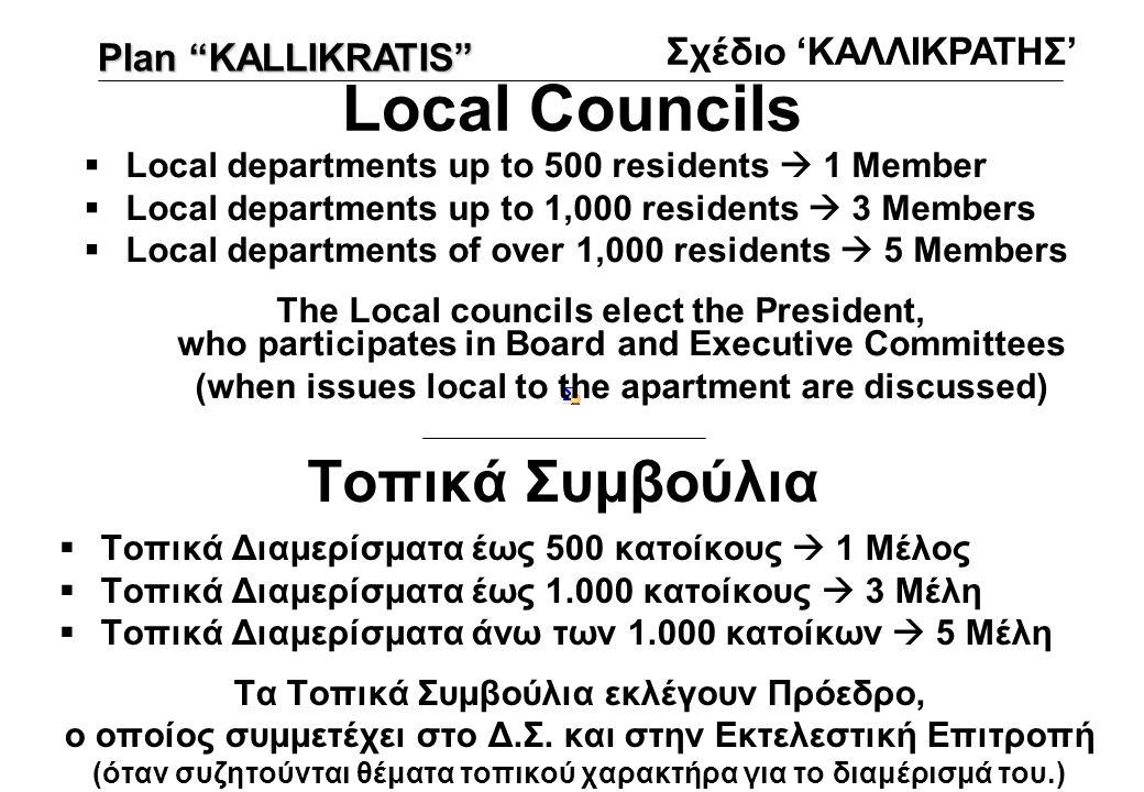 Local Councils Τοπικά Συμβούλια Σχέδιο 'ΚΑΛΛΙΚΡΑΤΗΣ'