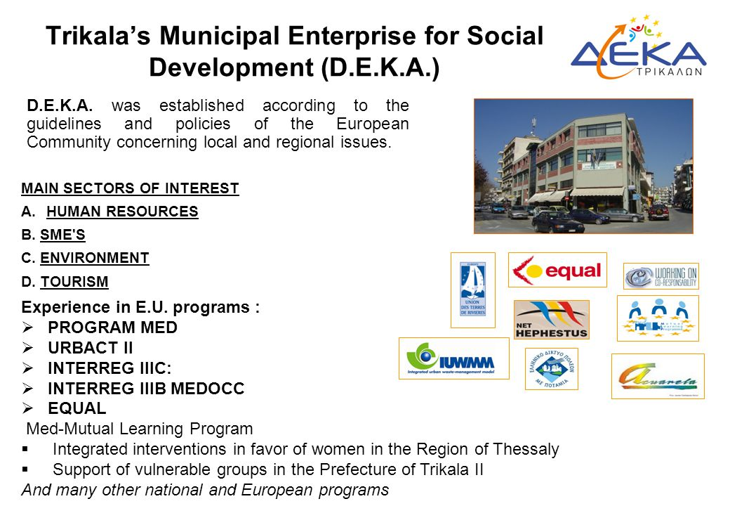 Trikala's Municipal Enterprise for Social Development (D.E.K.A.)