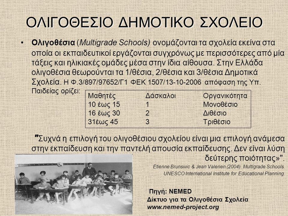 ΟΛΙΓΟΘΕΣΙΟ ΔΗΜΟΤΙΚΟ ΣΧΟΛΕΙΟ