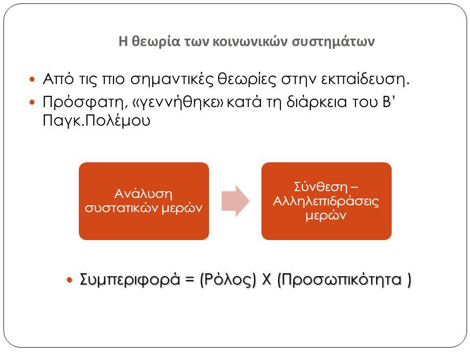 Η θεωρία των κοινωνικών συστημάτων