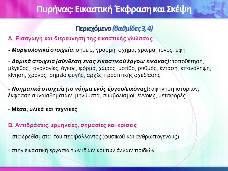 Πυρήνας: Εικαστική Έκφραση και Σκέψη Περιεχόμενο (βαθμίδες 3, 4)