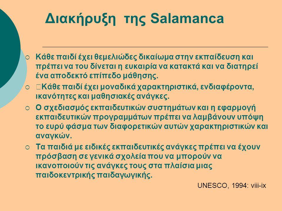 Διακήρυξη της Salamanca