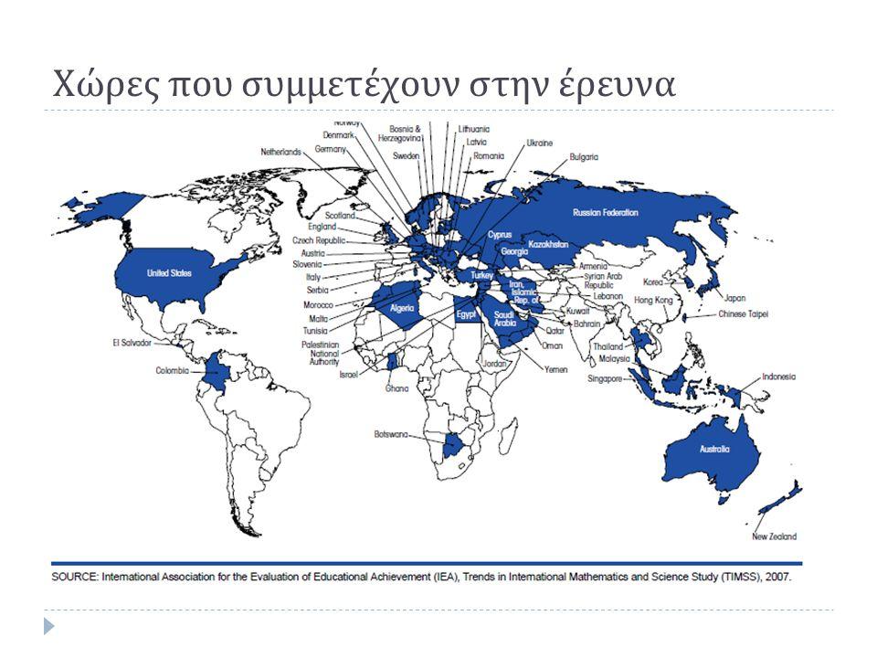 Χώρες που συμμετέχουν στην έρευνα