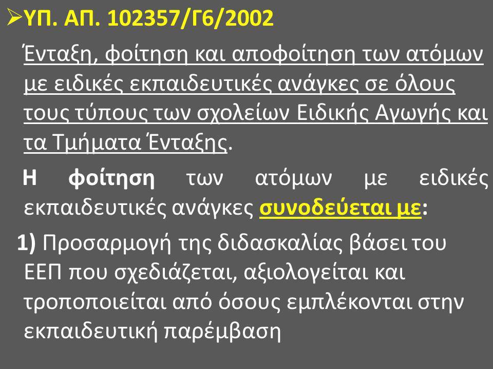 ΥΠ. ΑΠ. 102357/Γ6/2002