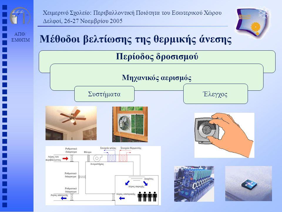 Μέθοδοι βελτίωσης της θερμικής άνεσης