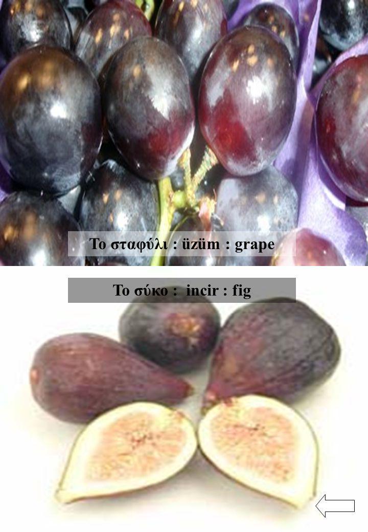 Το σταφύλι : üzüm : grape