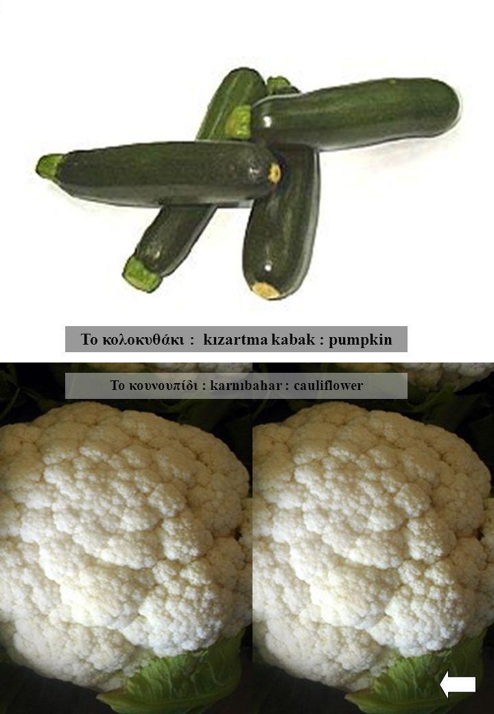 Το κολοκυθάκι : kızartma kabak : pumpkin