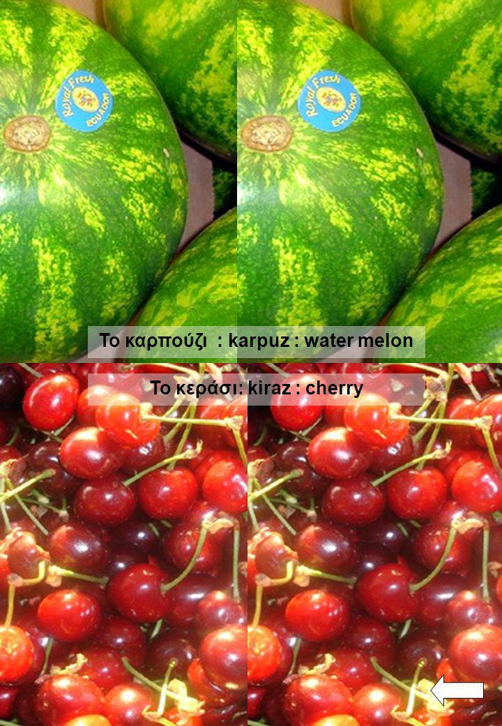 To καρπούζι : karpuz : water melon