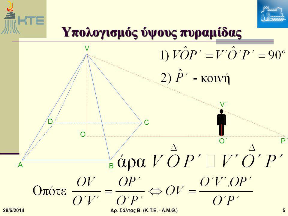 Υπολογισμός ύψους πυραμίδας