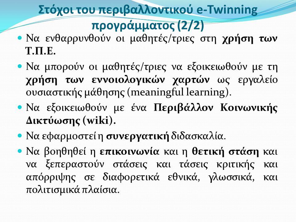Στόχοι του περιβαλλοντικού e-Twinning προγράμματος (2/2)