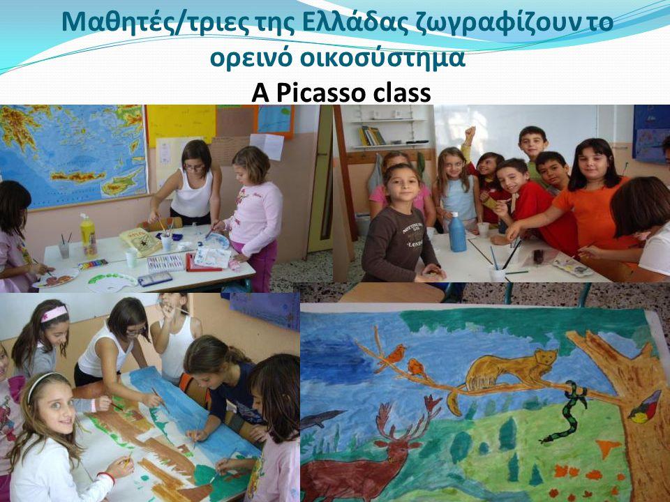 Μαθητές/τριες της Ελλάδας ζωγραφίζουν το ορεινό οικοσύστημα A Picasso class