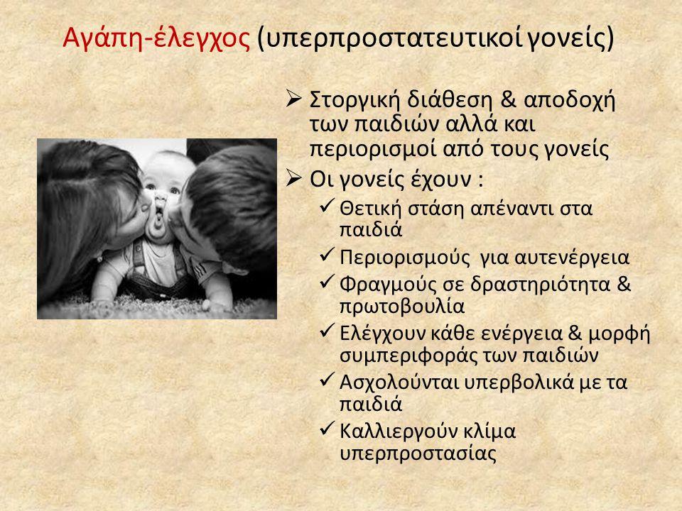 Αγάπη-έλεγχος (υπερπροστατευτικοί γονείς)