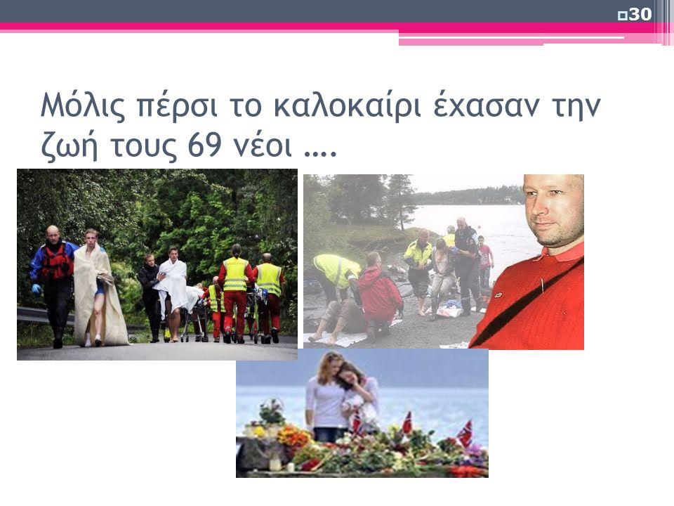 Μόλις πέρσι το καλοκαίρι έχασαν την ζωή τους 69 νέοι ….