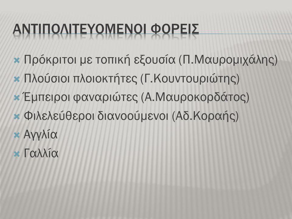 ΑΝΤΙΠΟΛΙΤΕΥΟΜΕΝΟΙ ΦΟΡΕΙΣ