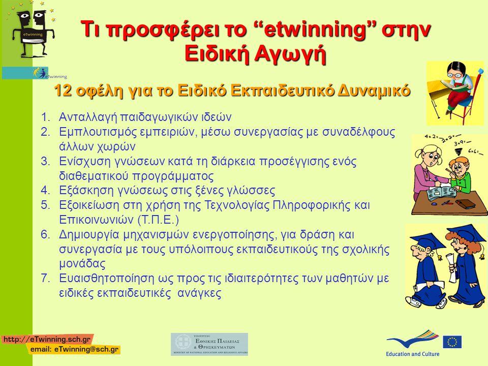 Τι προσφέρει το etwinning στην Ειδική Αγωγή