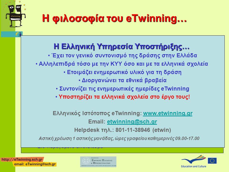 Η φιλοσοφία του eTwinning…