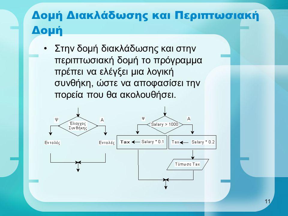 Δομή Διακλάδωσης και Περιπτωσιακή Δομή