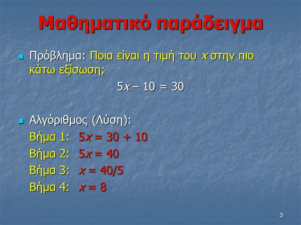 Μαθηματικό παράδειγμα
