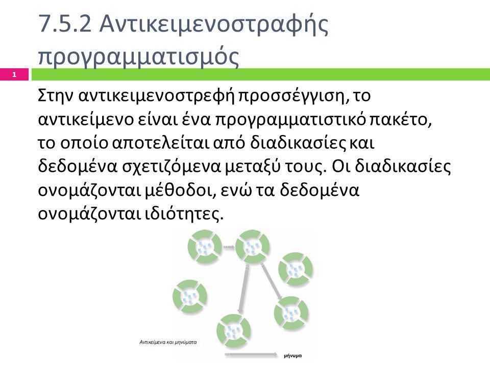 7.5.2 Αντικειμενοστραφής προγραμματισμός