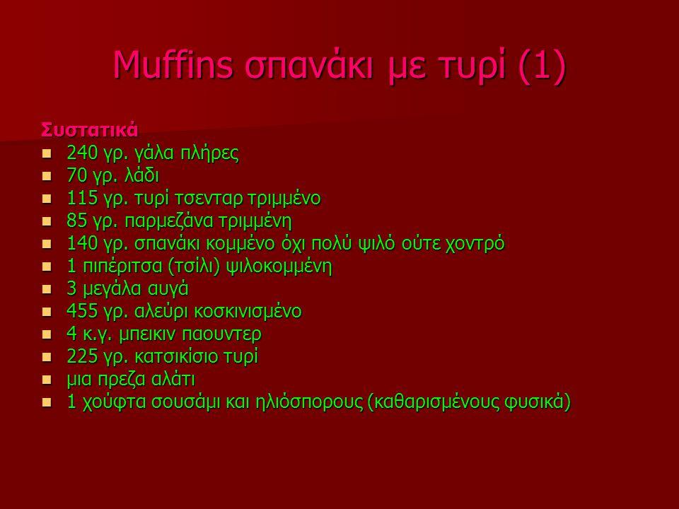 Muffins σπανάκι με τυρί (1)