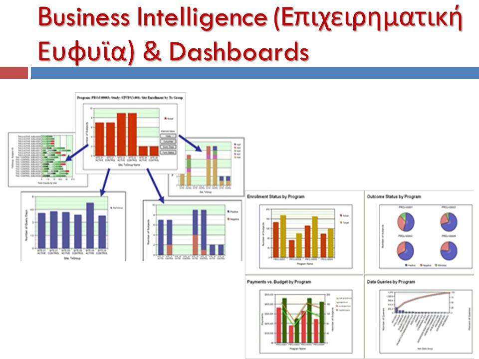 Βusiness Intelligence (Eπιχειρηματική Ευφυϊα) & Dashboards