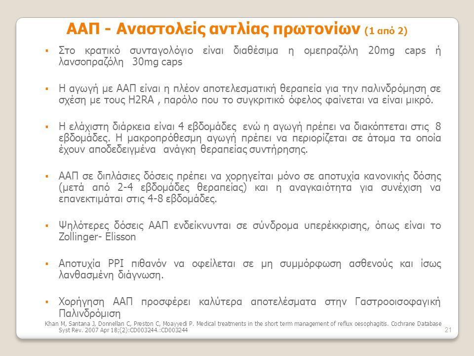 ΑΑΠ - Αναστολείς αντλίας πρωτονίων (1 από 2)