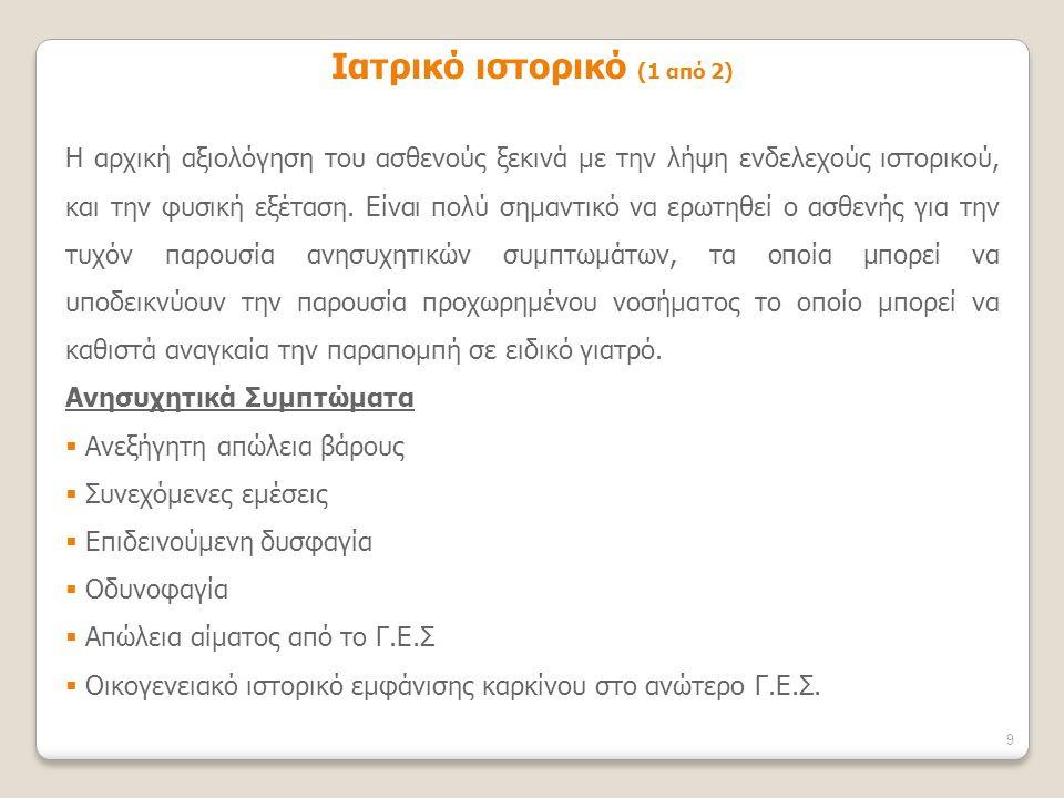 Ιατρικό ιστορικό (1 από 2)