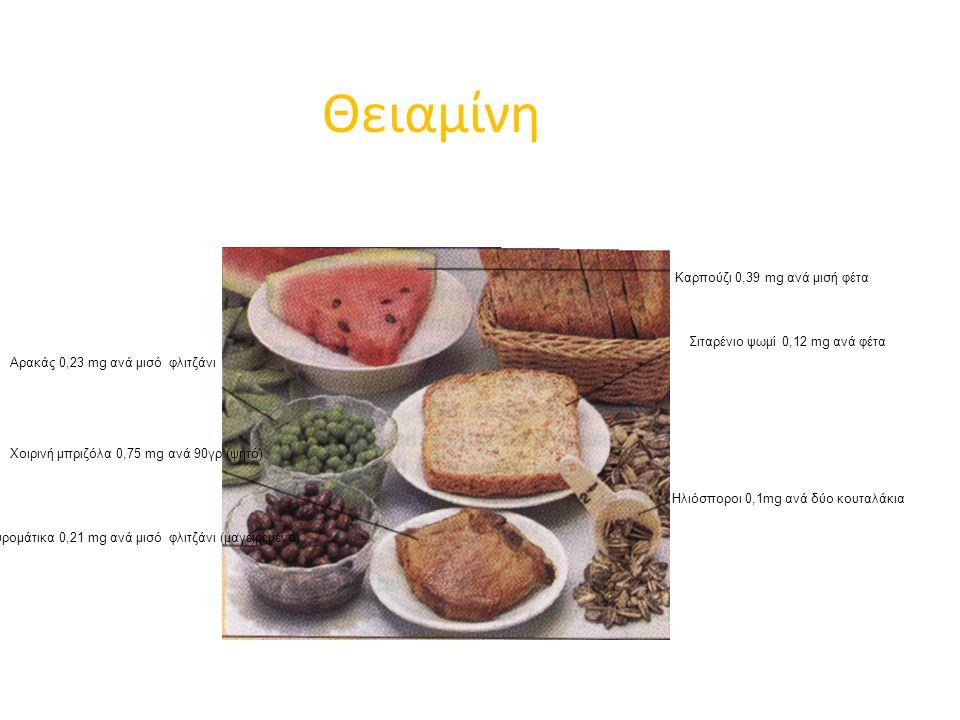 Θειαμίνη Καρπούζι 0,39 mg ανά μισή φέτα