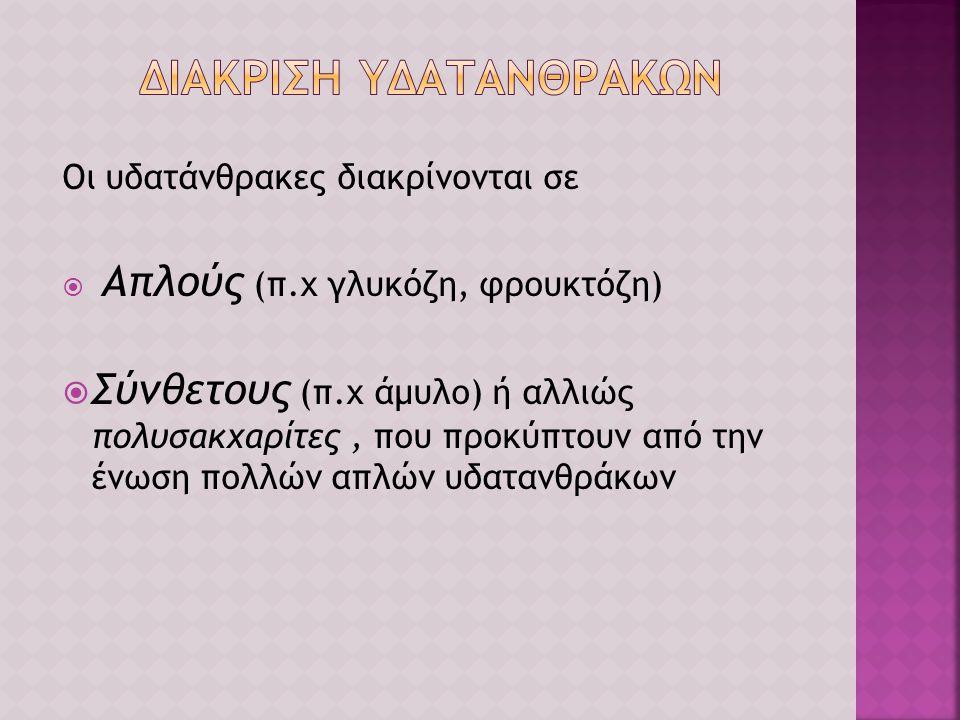 ΔΙΑΚΡΙΣΗ ΥΔΑΤΑΝΘΡΑΚΩΝ